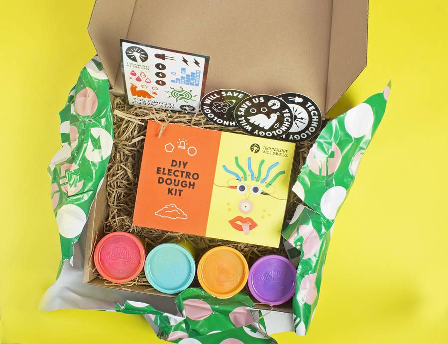 gift box: electro dough luxe by technology will save us   notonthehighstreet.com
