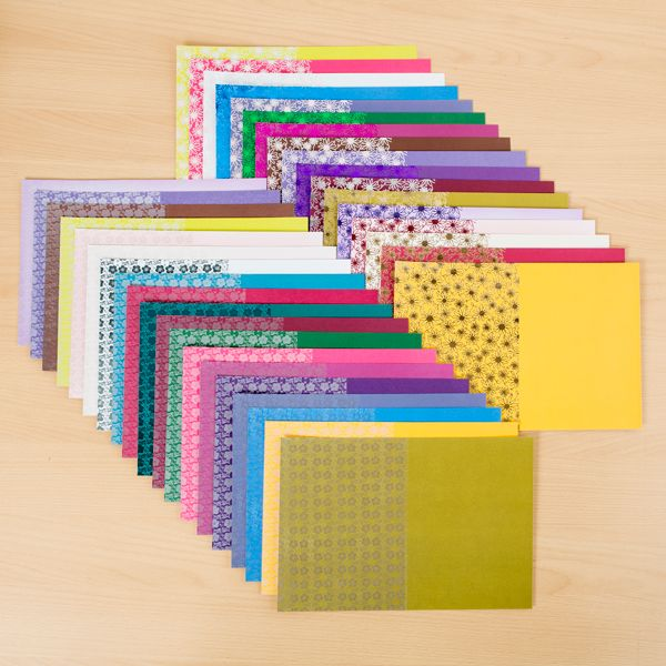 Kanban Foil Card and Pearlescent Card Assortment - 36 Sheets (144208) | Create and Craft