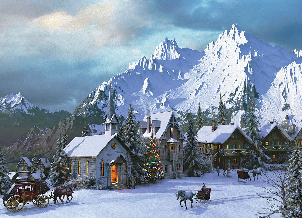 Rocky Mountain Christmas by Dominic Davison. 1000 pieces. Get ...