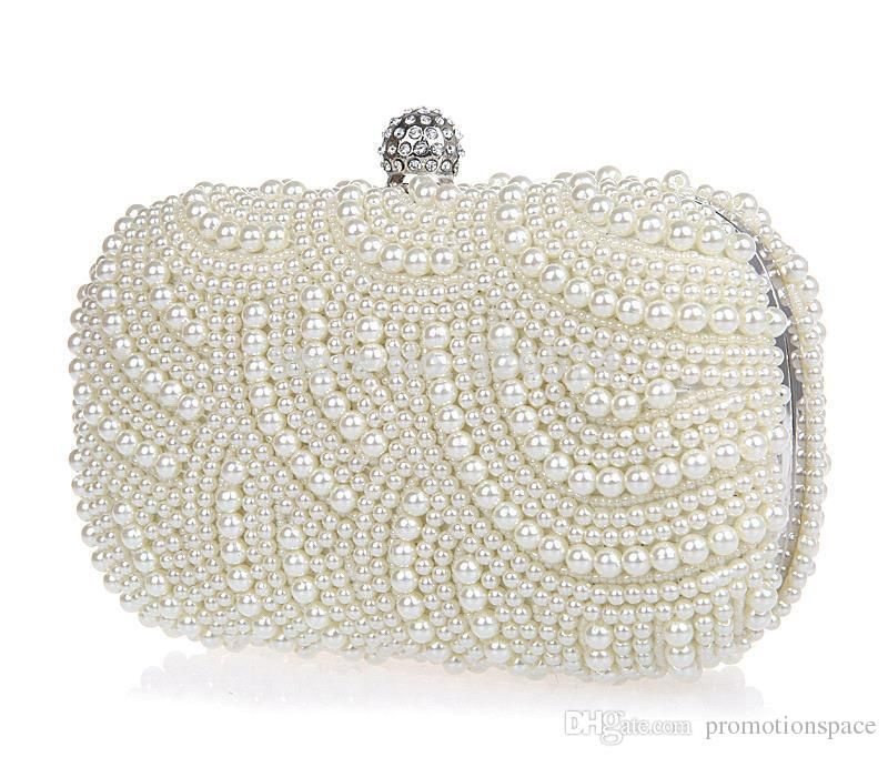 Handbags Online Shopping Sparkly Shining 2015 Lastest Crystal Peals Bridal Hand Bags With Chain Women Wedding Evening Prom Party Bags Bridesmaid Bags Cheap Designer Bags From Promotionspace, $18.85  Dhgate.Com