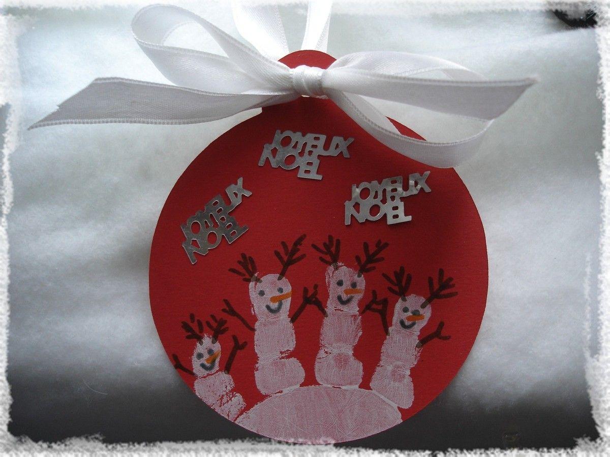 Boule de Noël empreinte   123scrap   Sandrine