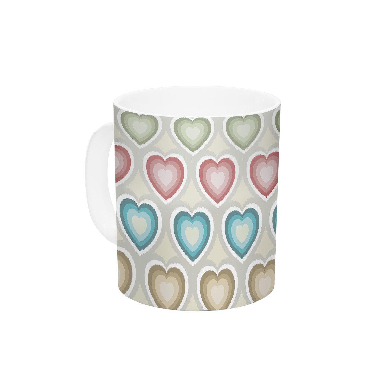 My Hearts by Julia Grifol 11 oz. Ceramic Coffee Mug