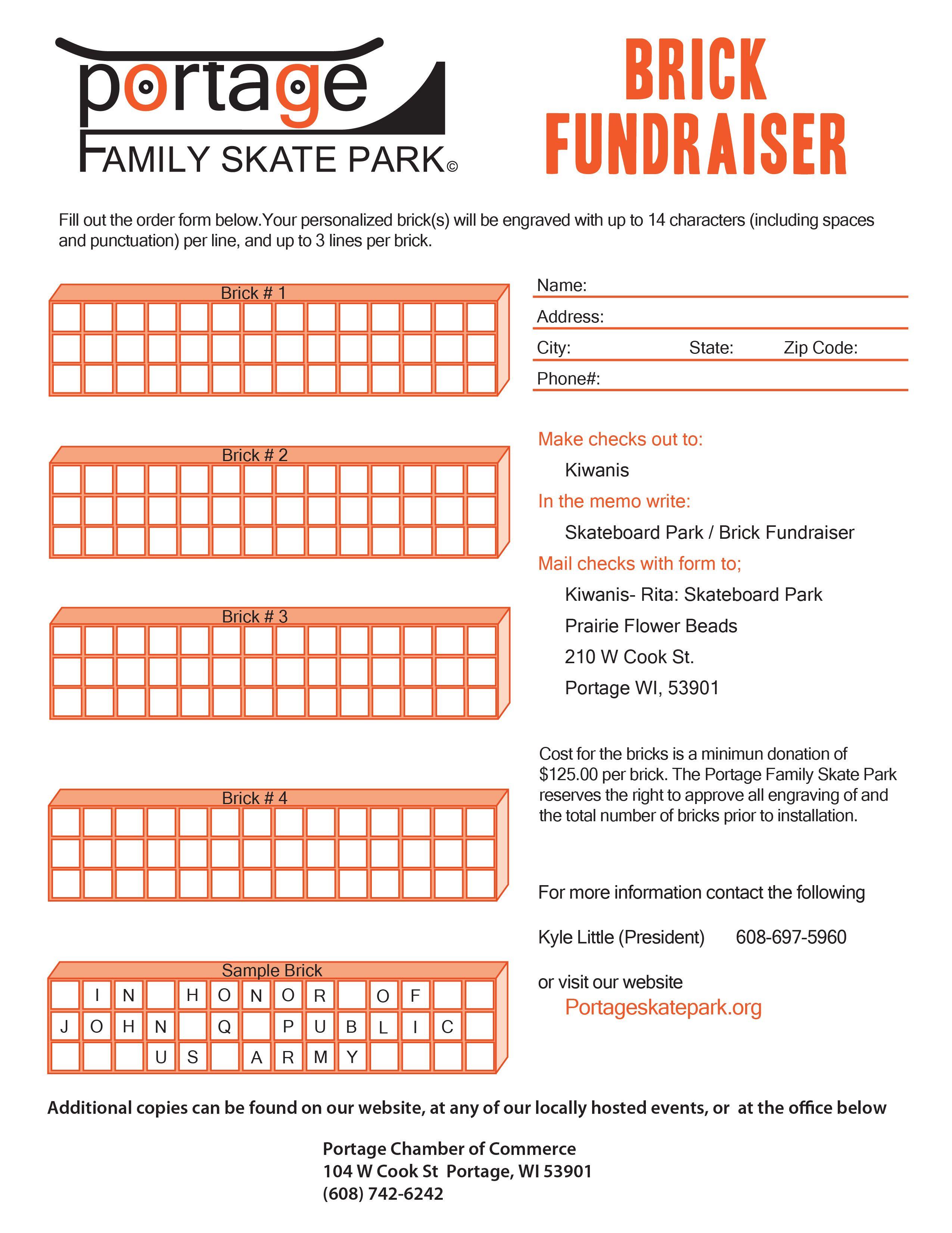 pfps brick fundraiser