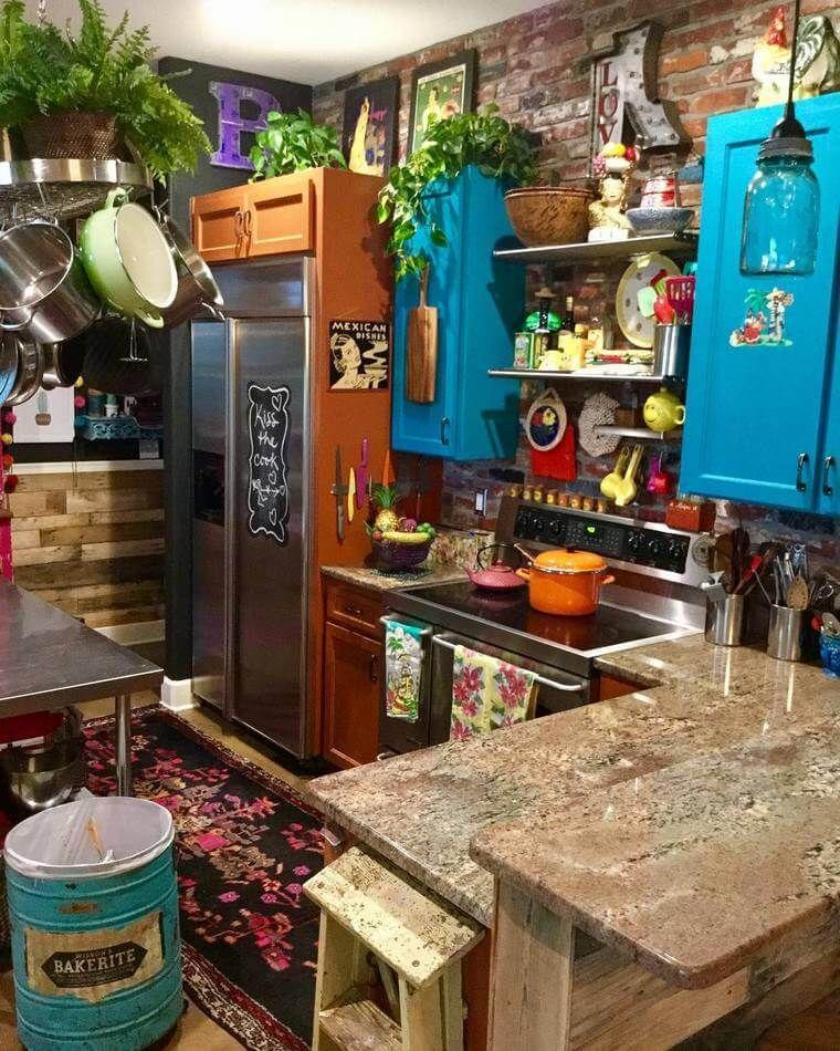 Best Boho Style Kitchen 17 24 Tiny Kitchen Design Boho 400 x 300