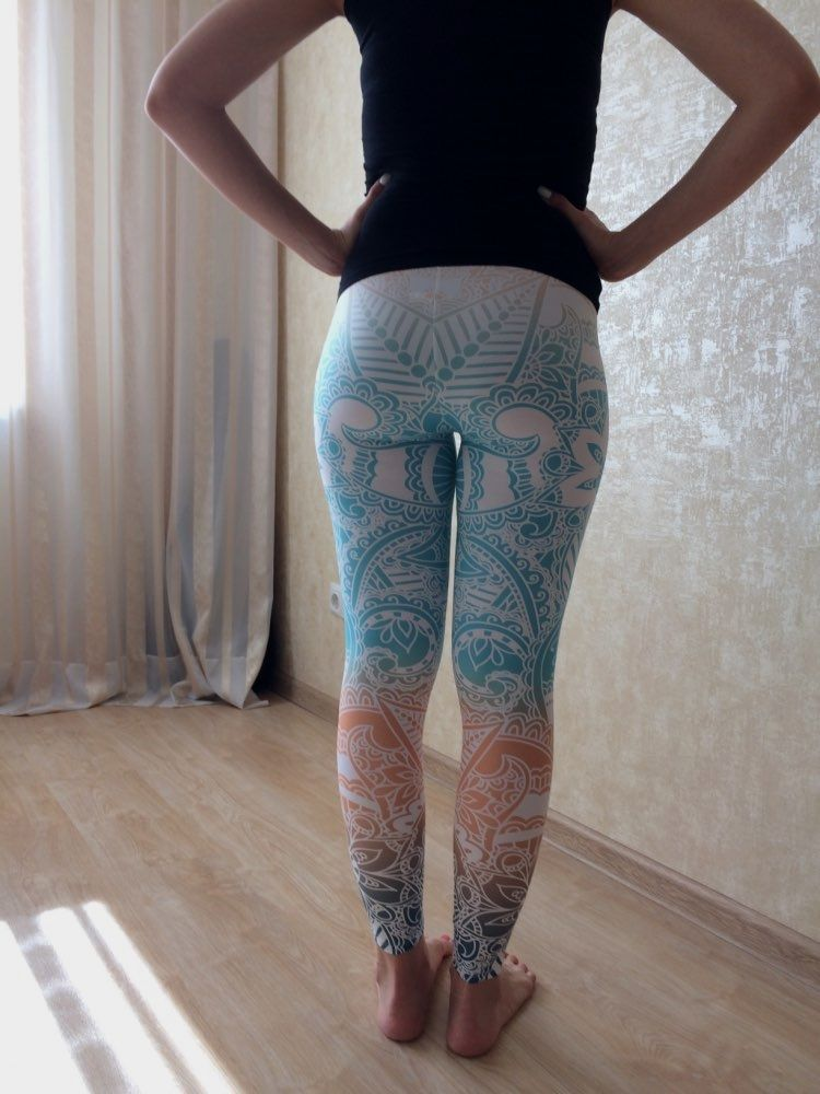8c925c6f0c Brilliant Mandala Ombre Mint Leggings Mandala Leggings, Mandala print  leggings, mandala leggings for women
