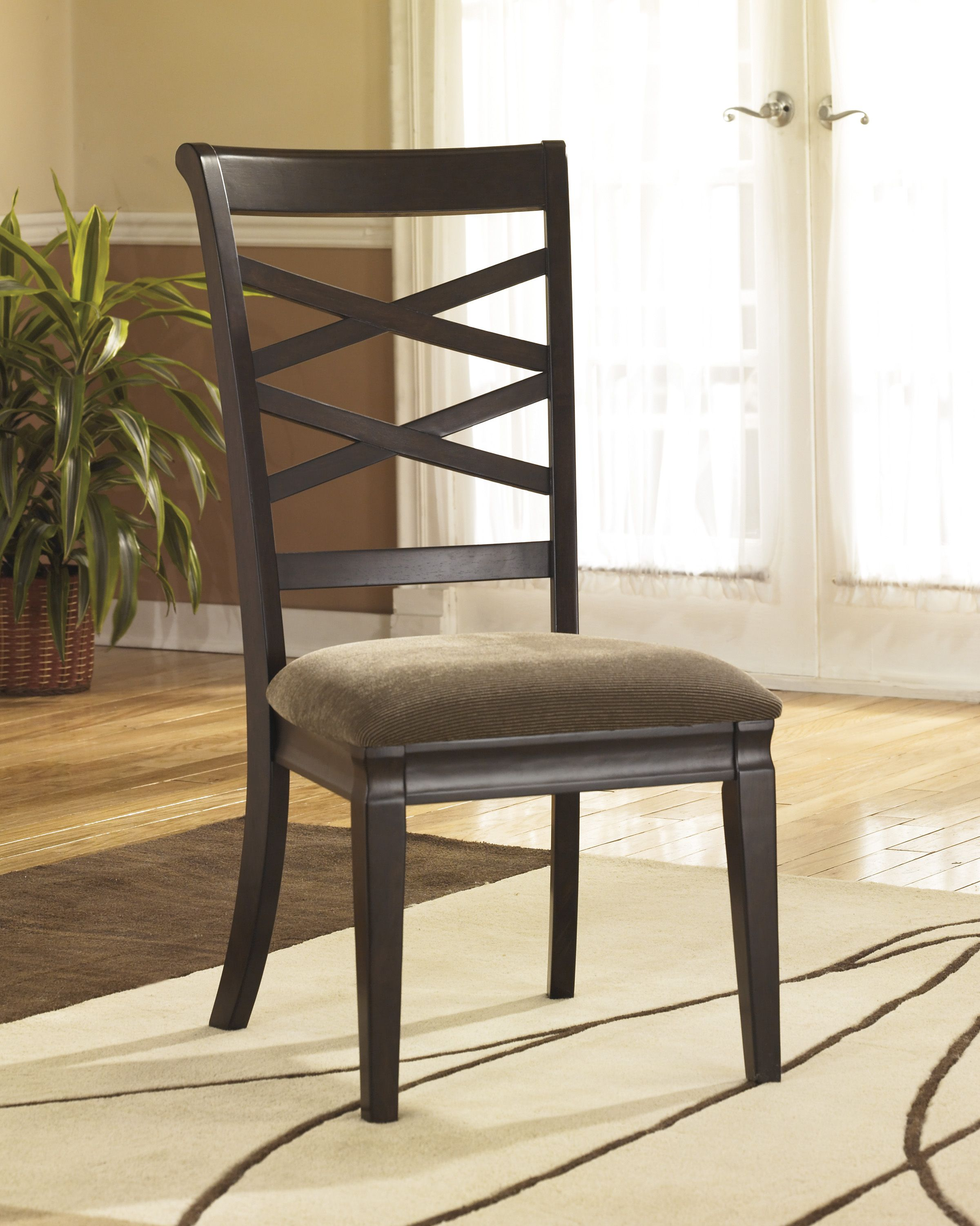 Hayley Dining Room Upholstered Seat Side Chair Shopac D480 01