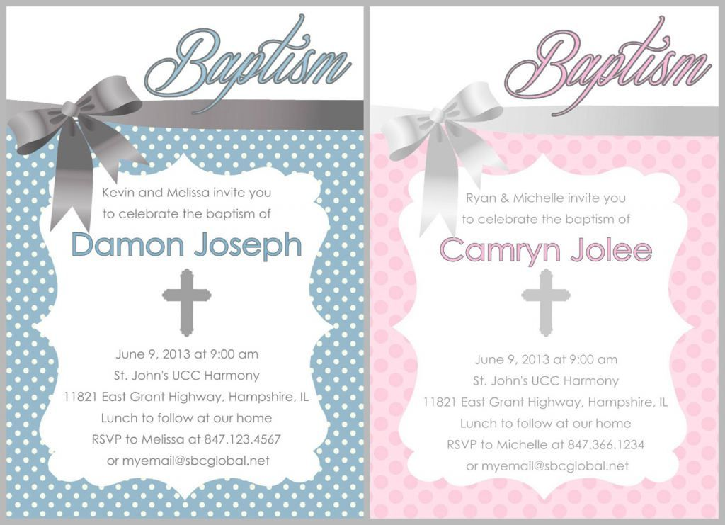 Free Baptism Invitations To Print With
