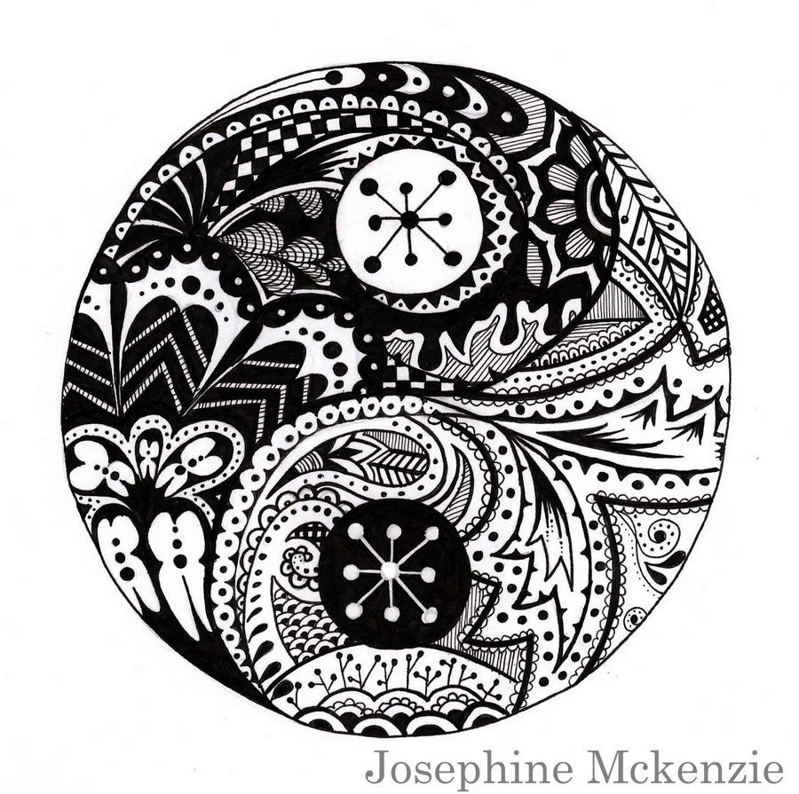 Coloring pages yin yang - Find This Pin And More On Coloring Patterns Abstracts By Cricketthecraft Yin And Yang