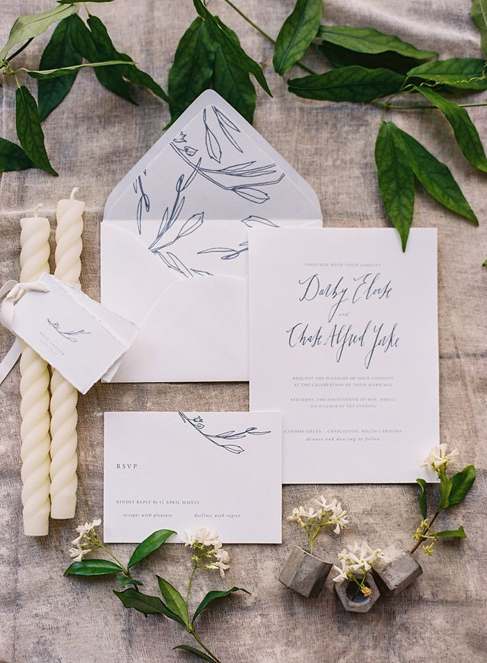 wedding invitation photo%0A Botanical Wedding at Cannon Green Charleston with Easton Events and Eric  Kelley