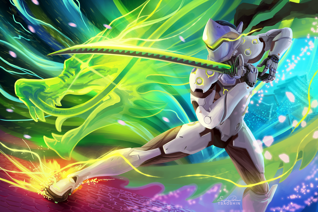 Genji By Tsaoshin I Was Commissioned By Blizzard For
