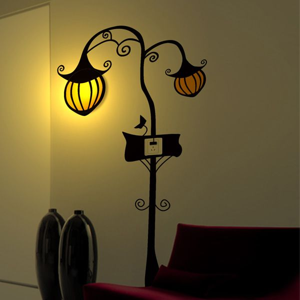Us 21 52 3d Wallpaper Pumpkin Stickers Wall Lamp Decoration Cartoon Lamp Indoor Lighting From Lights Lighting On Banggood Com Contemporary Wall Lights Lamp Decor Vintage Wall Lights