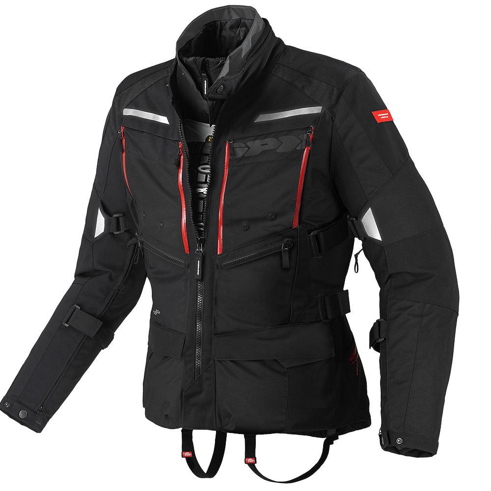 Ideal for riding 365 days a year, thanks to the Step-in-Clothing system,  Spidi 4 Season motorcycle jacket is a unstoppable tour