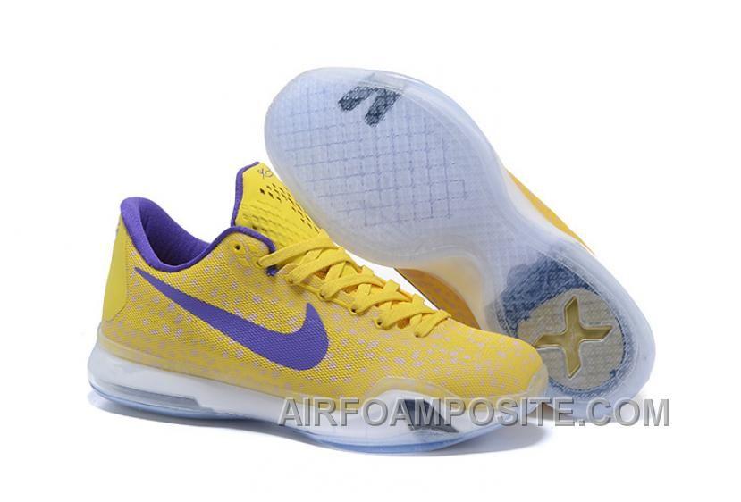 Kobe 10 Safari Print Yellow Purple For Sale Discount