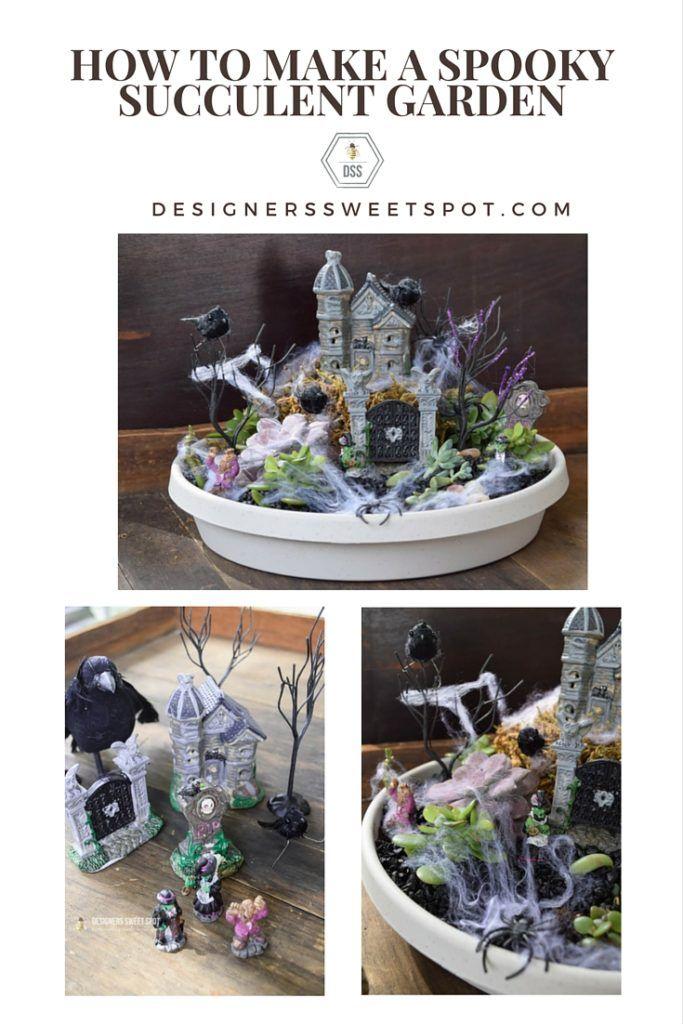 Spooky Halloween Succulent Garden