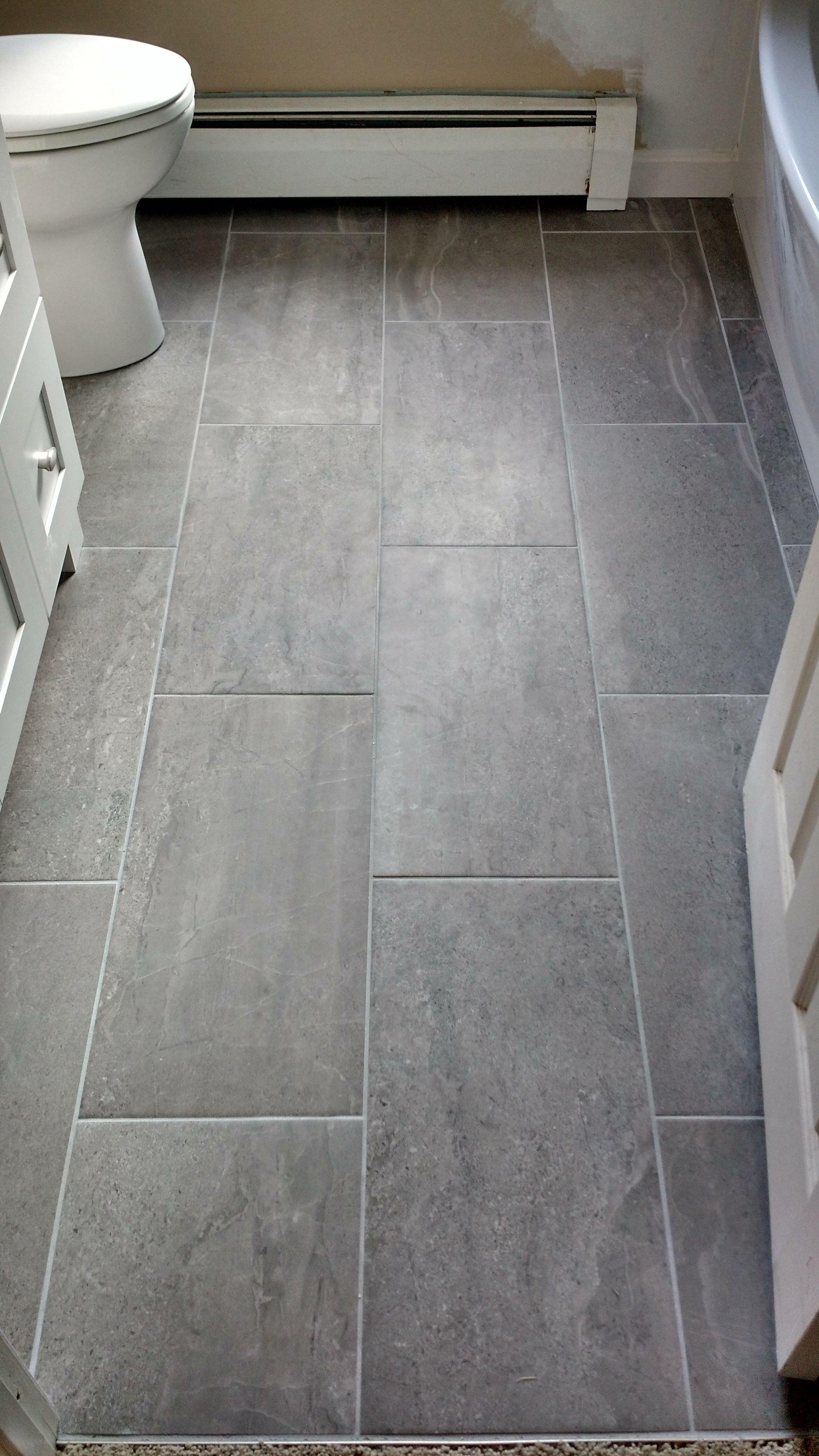 Beautiful Large Format Tiled Floor Large Format Tile Large Tile Bathroom Grey Bathroom Tiles