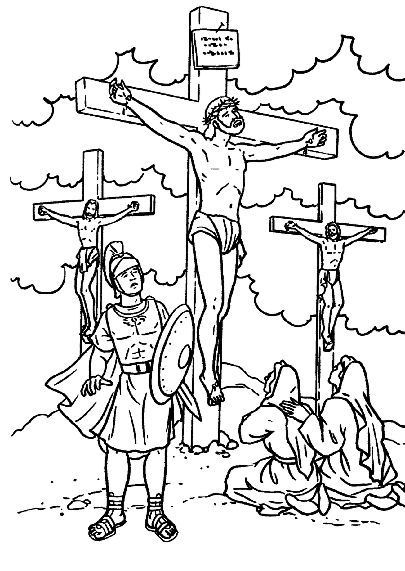 Printable coloring pages religious items - Lesson 9 Jesus Is Crucified Jesus On The Cross 2 3 Year Olds 4 5 Year Olds
