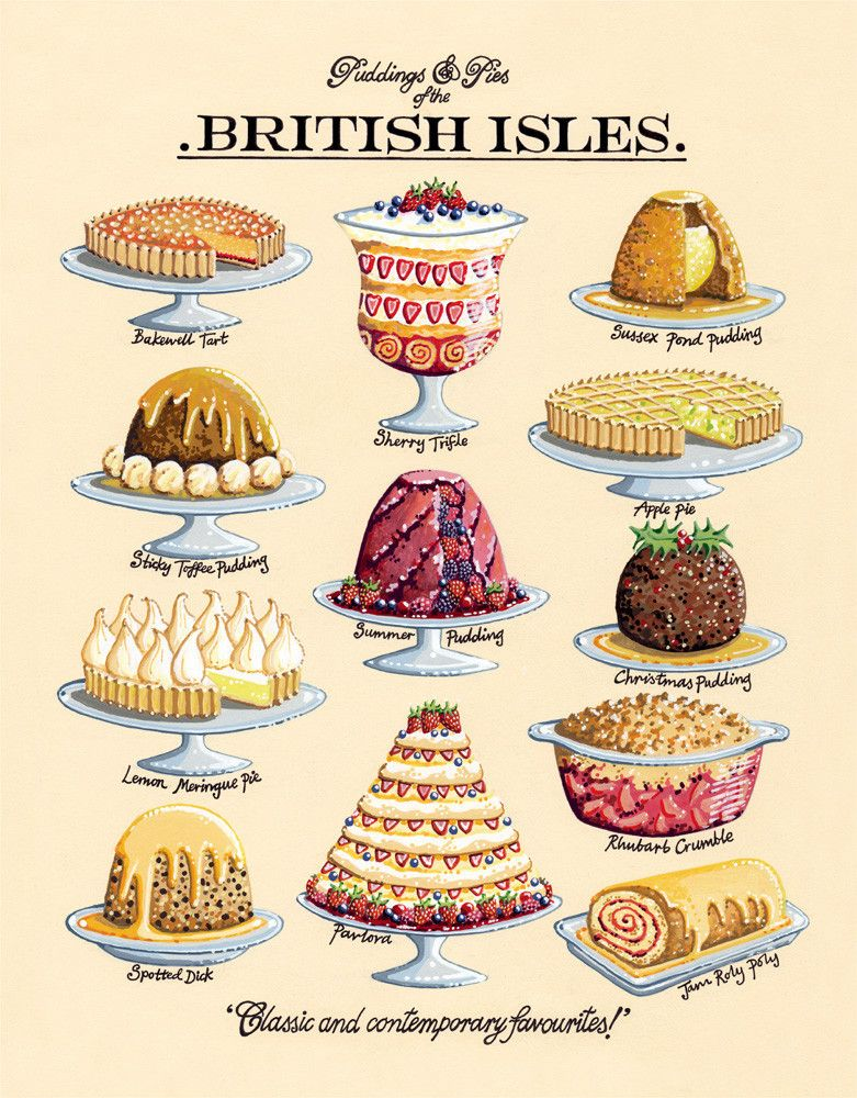 Puddings & Pies by Kelly Hall - art print from Kin