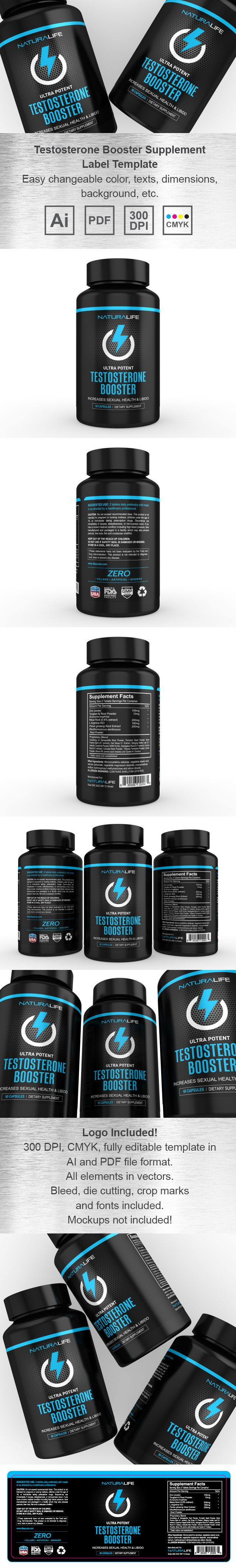 Testosterone Booster Supplement Label Template HttpWwwDlayouts
