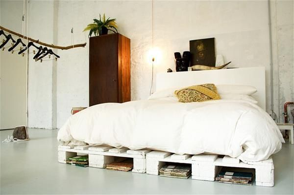 Pallets bed frame!! Soo looking for pallets!!! | my home | Pinterest ...
