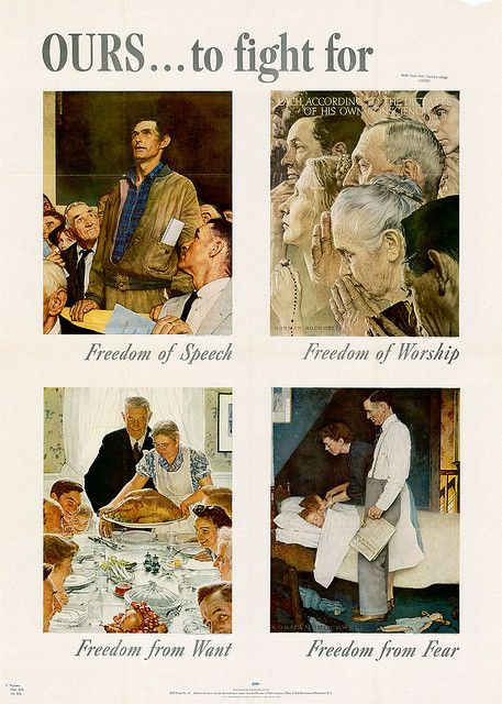 1943 The Four Freedoms Norman Rockwell Paintings Norman Rockwell Rockwell Paintings
