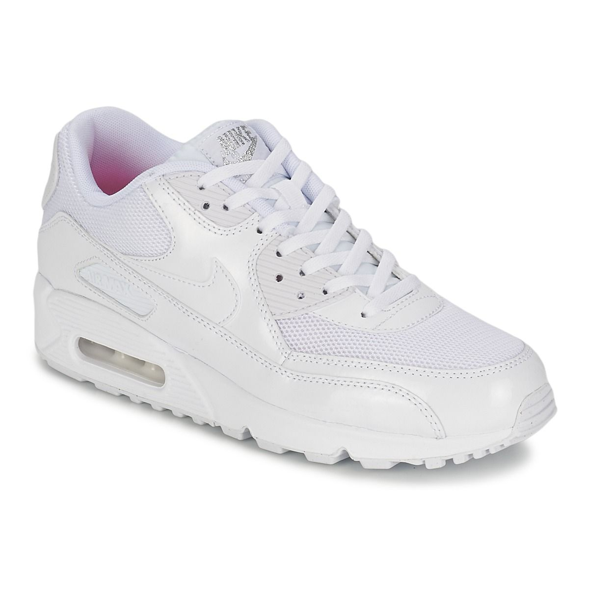 Baskets basses Nike AIR MAX 90 Blanc en 2019 | Baskets Femme