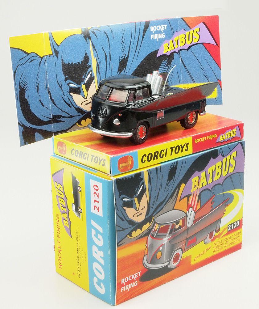 Corgi Toys Code 3 BATBUS Batmobile + Volkswagen Bus T1   Antique