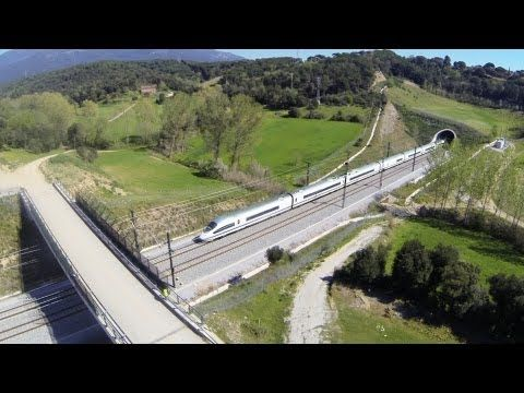 Tomas aéreas AVE - aerials high speed train rail - tren alta velocidad AVE Adif - YouTube