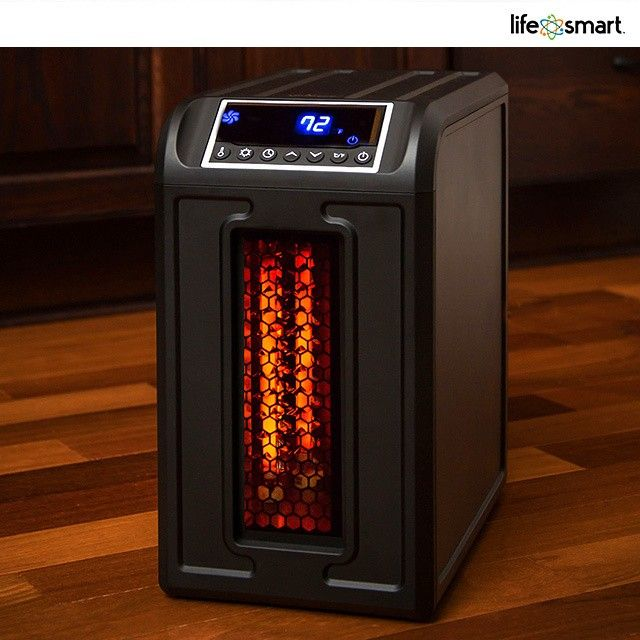 Lifesmart Life Pro Series 1500 Watt Compact Infrared Electric Heater With Remote Portable Space Heater Space Heater Heater