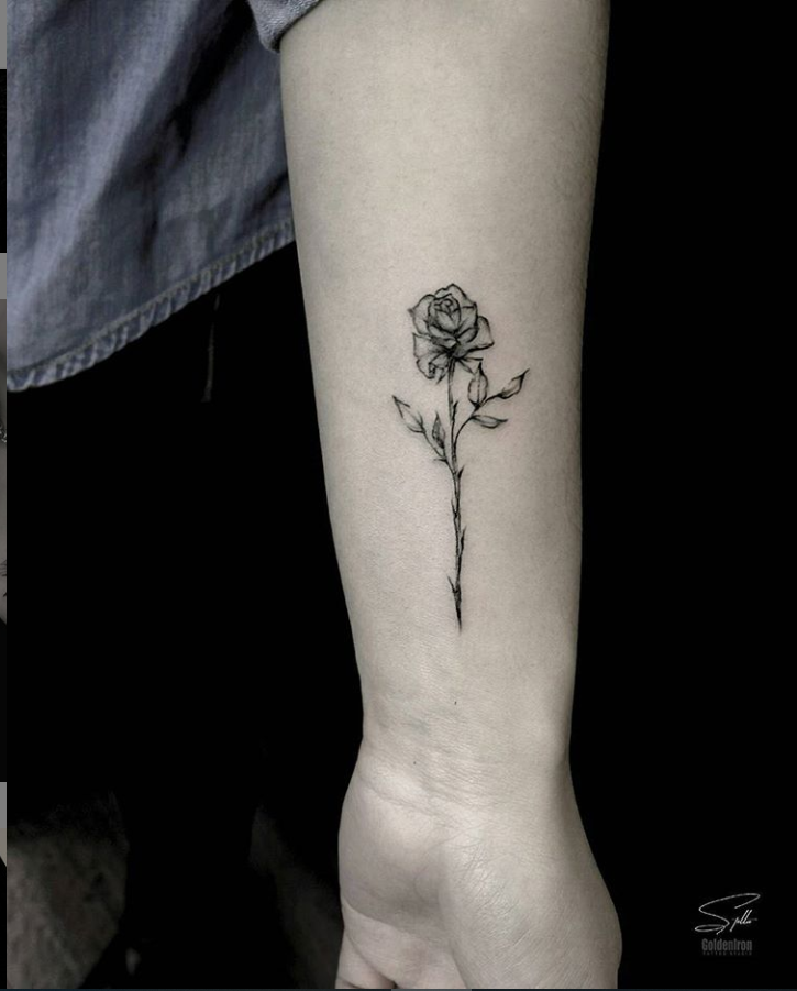 Small Flower 25 Delicate Small Flower Wrist Placement