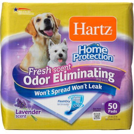 Free 2 Day Shipping On Qualified Orders Over 35 Buy Hartz Home Protection Odor Eliminating Dog Pads 50 Ct At Walmart Com Dog Pads Home Protection Puppy Pads