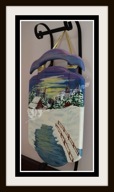 Pin by Diane Roy on Peinture sur Bois Pinterest Luge and - peinture bois et fer