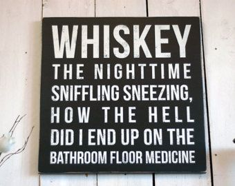 Rustic Signs Hand Painted Whisky Sign Bar Funny