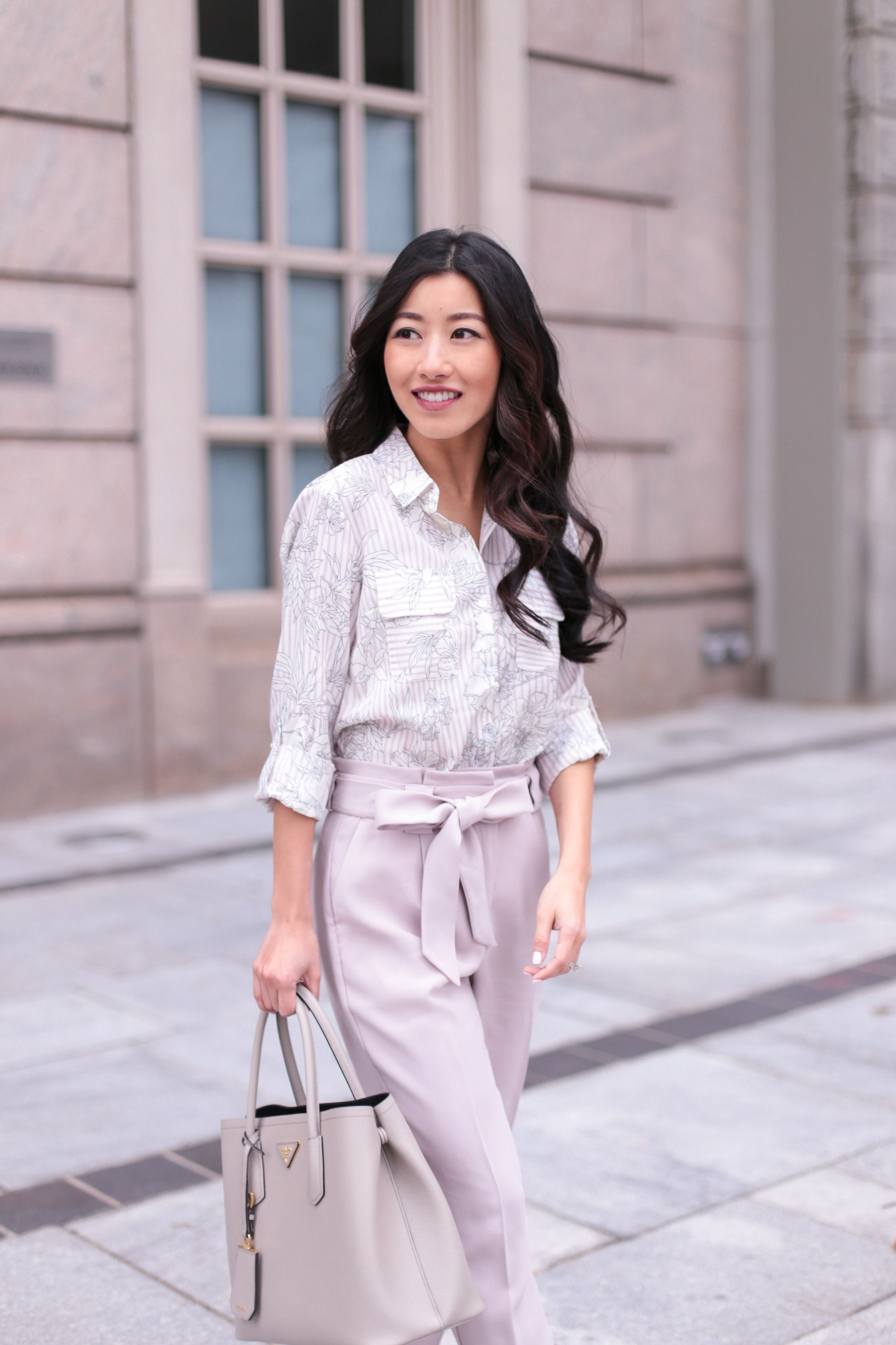 6a89a263b31791 High waisted work pants for spring | Business Casual | Casual work ...