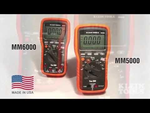 Klein Tools Mm5000 And Mm6000 Multimeters Klein Tools Measuring Instrument Multimeter