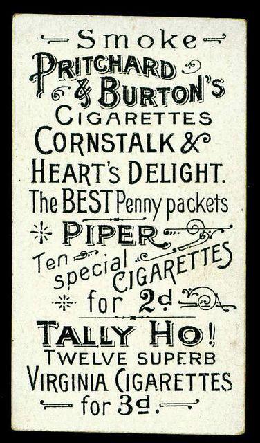 Vintage cigarette card via @uberbabygraphic