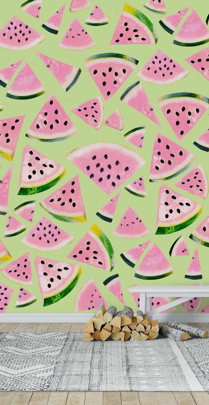 Watermelon Twist Vibes 1 Wall mural Wall murals