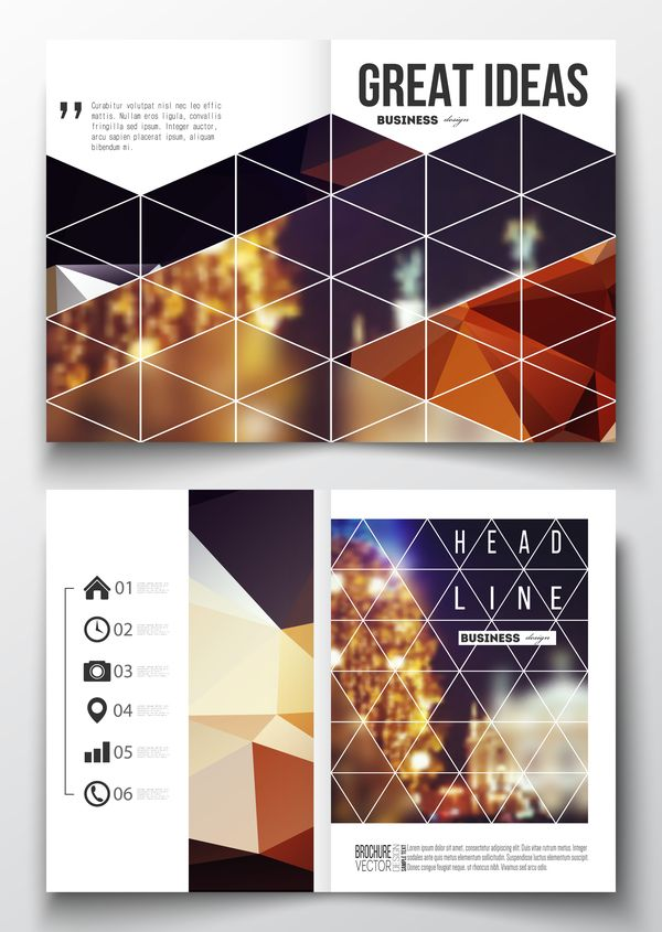 Lichtplan Erstellen geometric shape cover template magazine with flyer vector 04 free