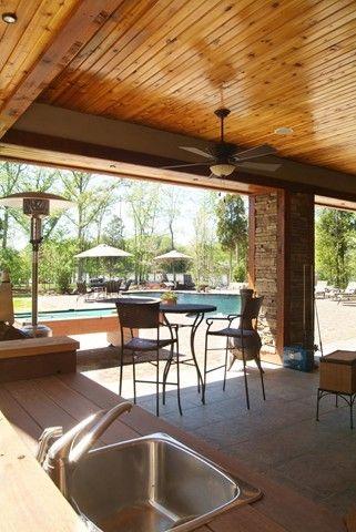 Patio Bar Wood Ceiling Outdoor Living Areas Outdoor Living Patio Design