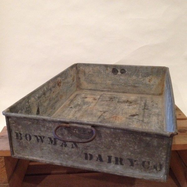 Metal Storage Crate   Bowman Dairy Co.   $60.00