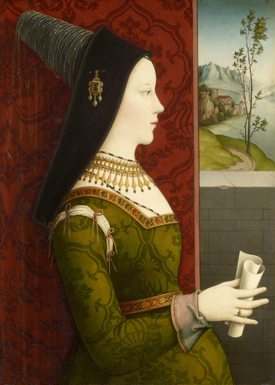 Niklas Reiser, Mary of Burgundy, c. 1500. Oil on panel. Kunsthistorisches Museum, Vienna, Picture Gallery