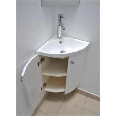 Meuble wc angle mobilier fran ais in petit meuble d for Meuble lave main d angle wc