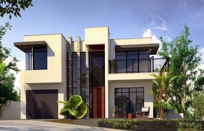 Casa Moderna - Fachada e Interior com Tons Terrosos!   Interiors ...