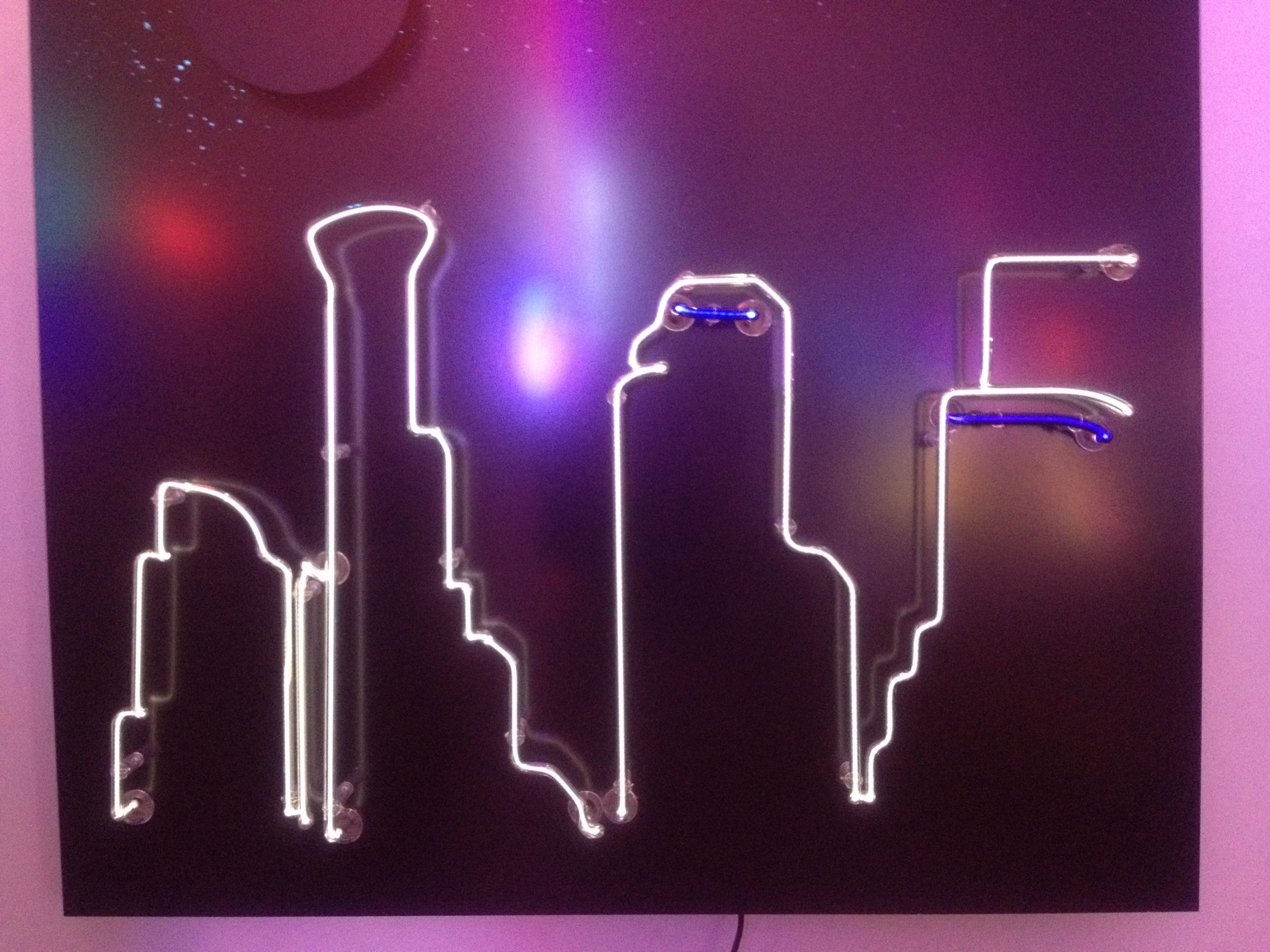 Neon Art Studio Showcasing The Dtla Skyline Neon Art Neon Sign Art Neon