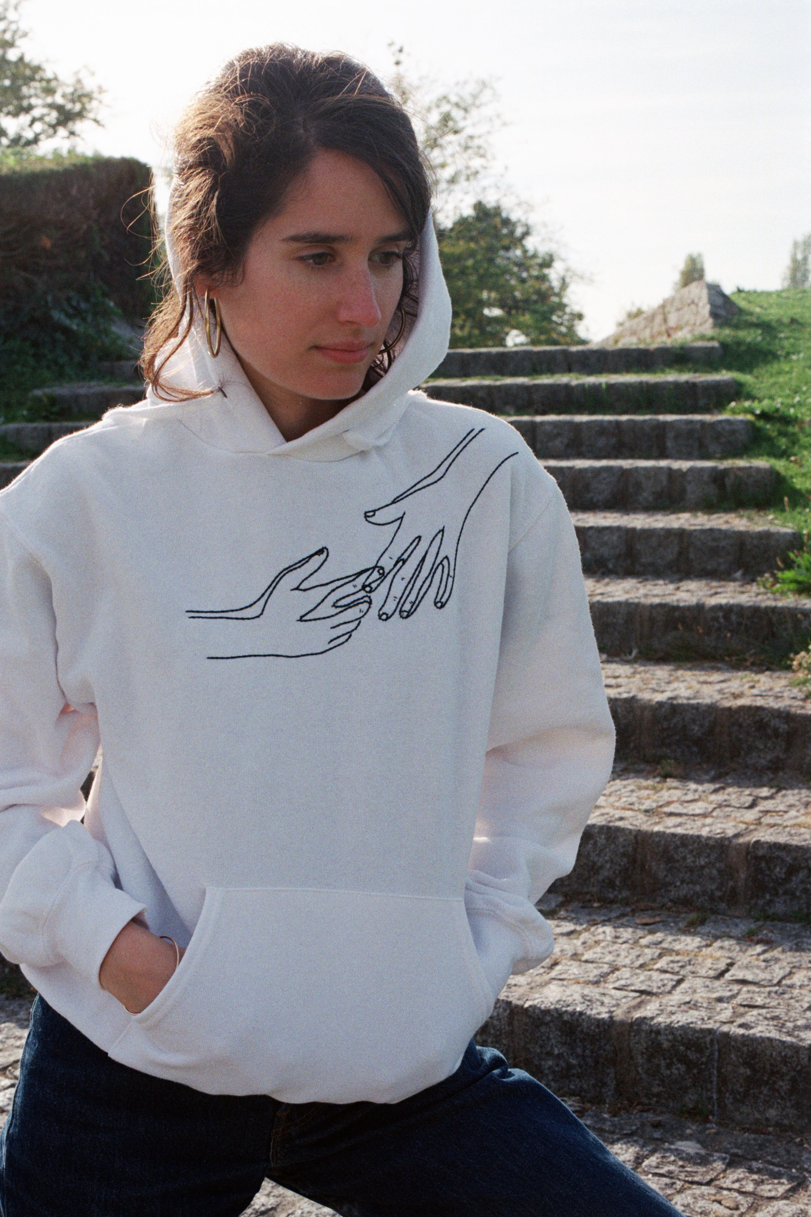Hand Embroidered Sweatshirts And Hoodies Same Deal As Our T Shirts But The Extra Cosy Version Hoodie Design Embroidered Hoodie Sweatshirts Embroidered Hoodie [ 3936 x 2624 Pixel ]