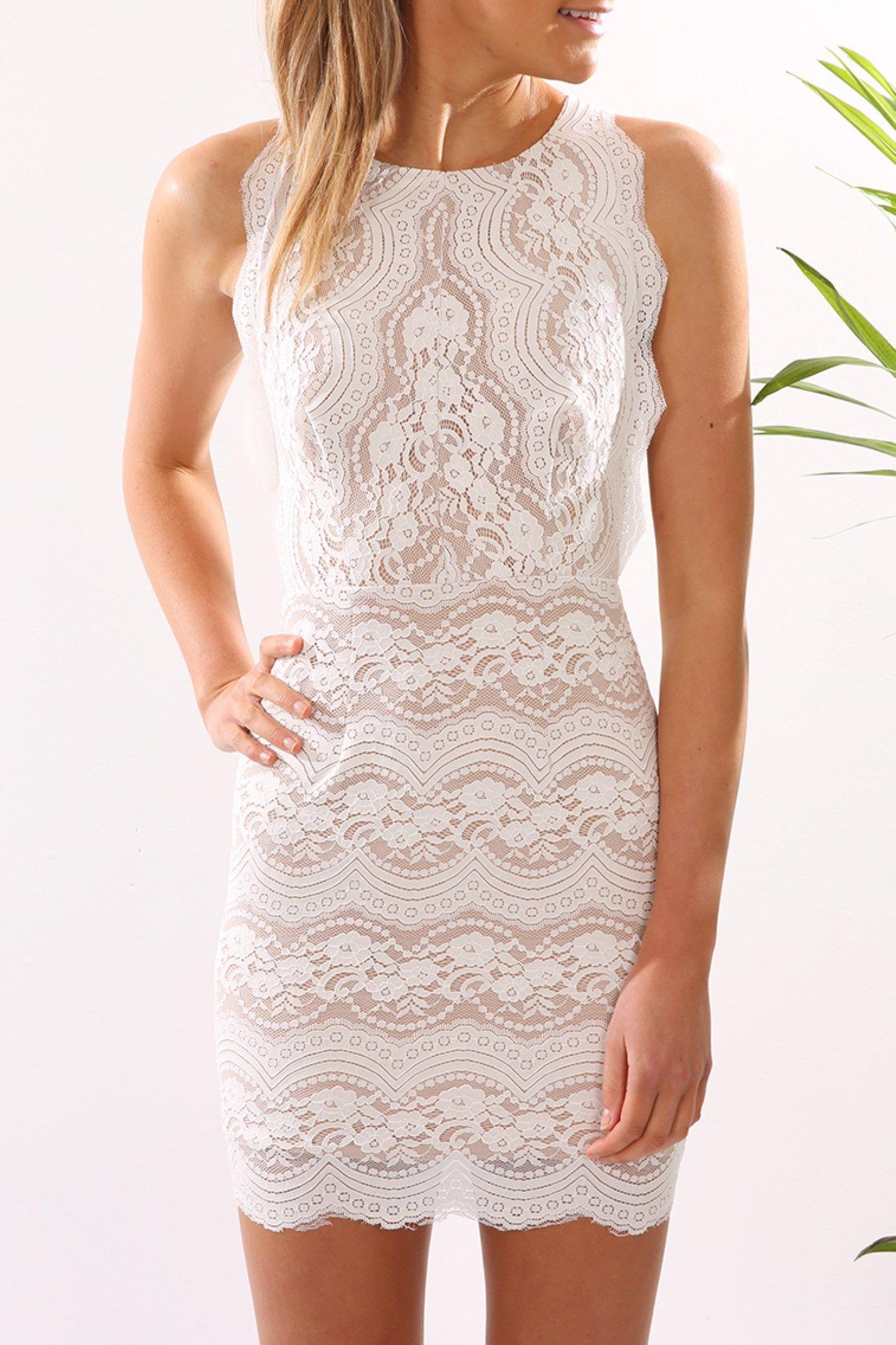 003a60fbbcb Alec Dress White