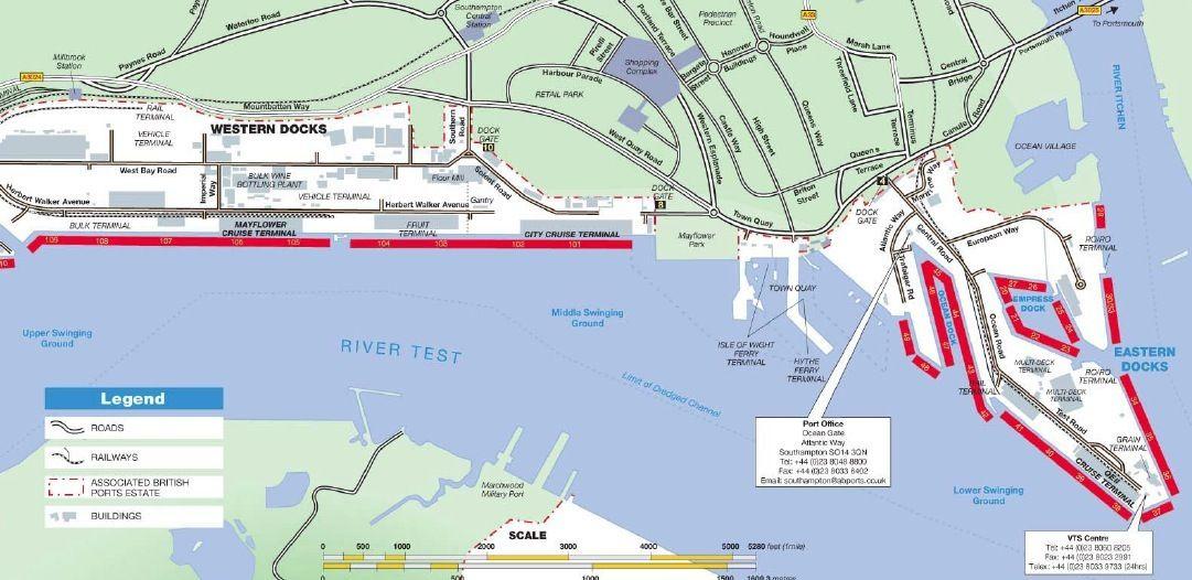 Southampton terminal map CruiseNewser Pinterest Southampton