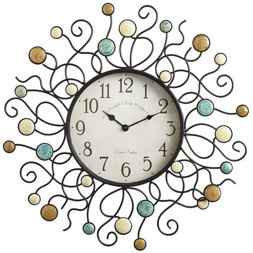 stones patio clock from pier1 tick tock pinterest stone patios rh za pinterest com outdoor patio clocks with thermometer Large Outdoor Clocks