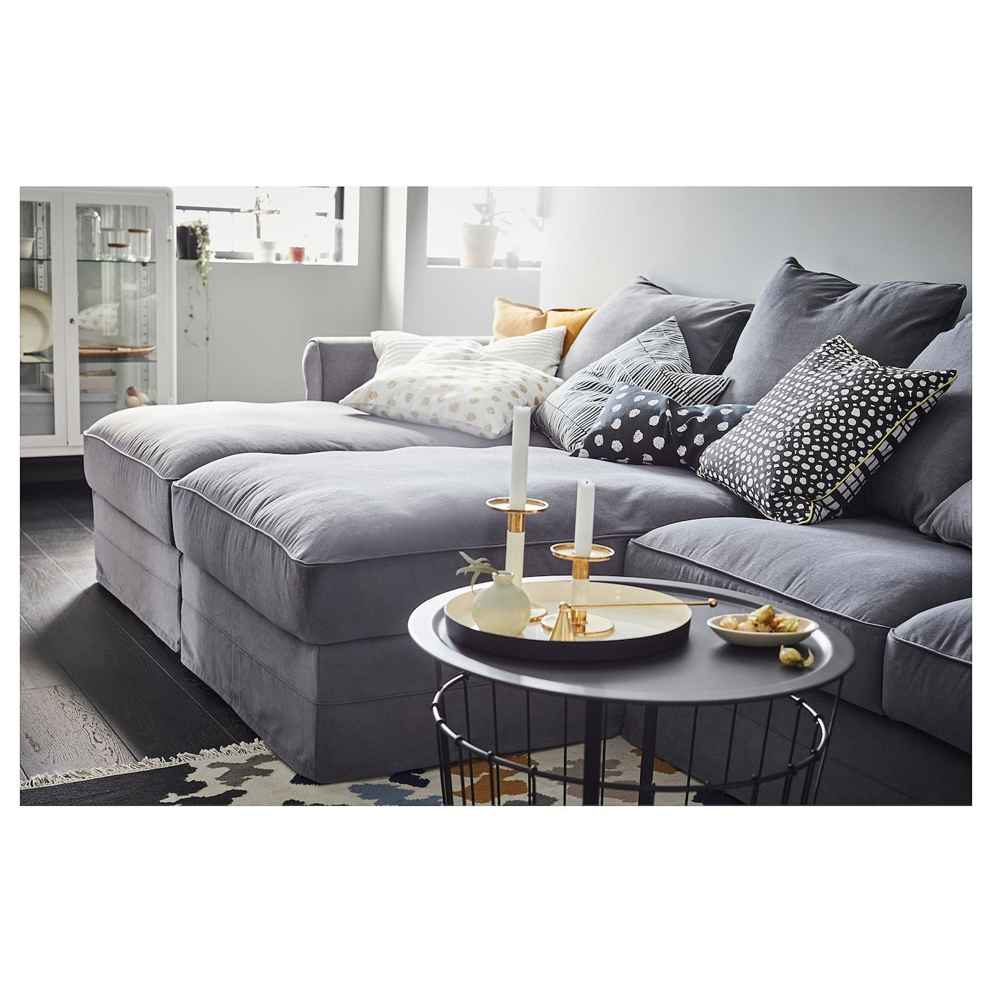 Gr 214 Nlid Sectional 4 Seat With Chaise Ljungen Medium