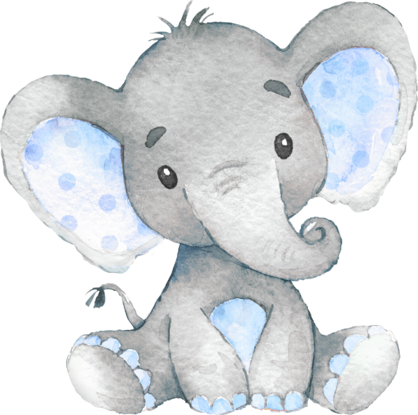25+ Blue Baby Animal Clipart