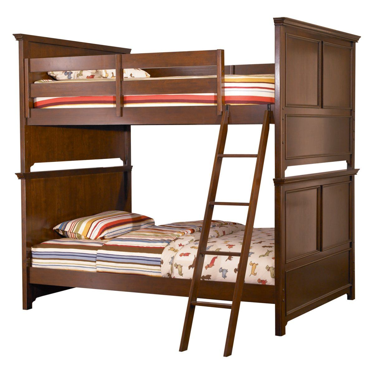 Loft bed with slide and storage  I am thinking a set of Full over Full bunk beds in the spare room